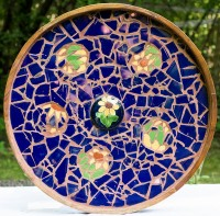 Cobalt Tiled Table
