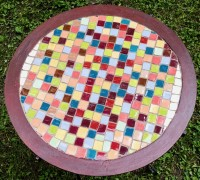 Mosaic Table Top View