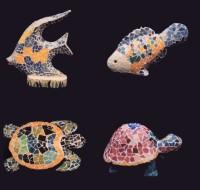 Fish & Turtles in Mosaic
