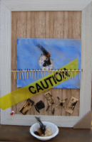 "Entropy: Burning | Assemblage | 24 x 16"""